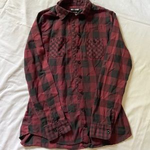 Hot Topic skull flannel shirt size Small